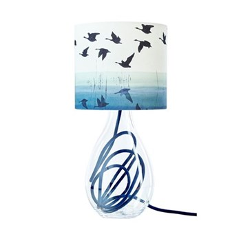 Welsh Reflection Small lamp, H45cm, indigo flex