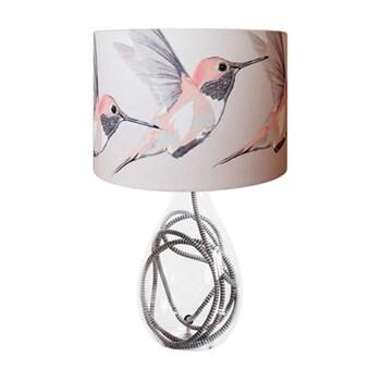 Rose Hummer Medium lamp, H47cm, grey zig zag flex