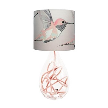 Rose Hummer Small lamp, H45cm, rose flex