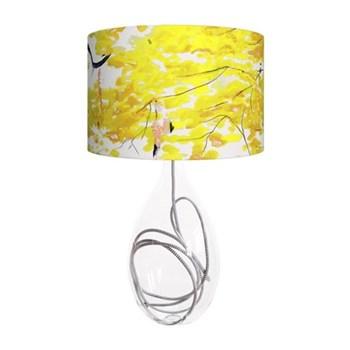 Chinese Tree Large lamp, H66cm, grey zig zag flex