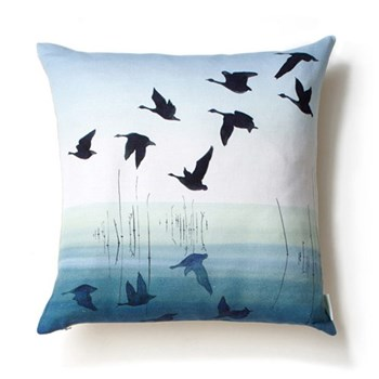 Welsh Reflection Square cushion, 45 x 45cm, linen