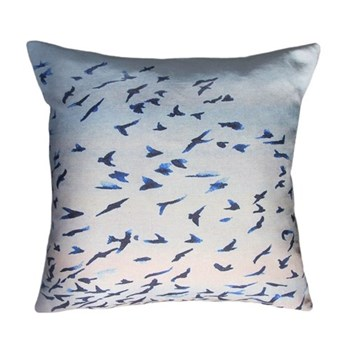 Murmuration Square cushion, 45 x 45cm, linen