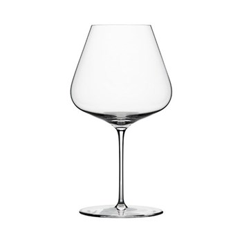 Set of 6 burgundy wine glasses