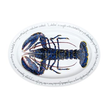 Blue Lobster Oval platter, 39 x 26cm