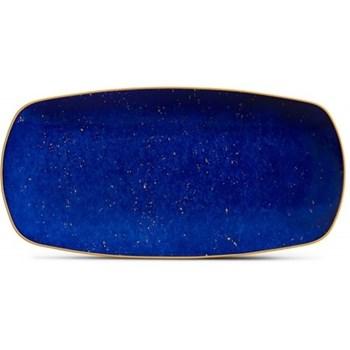 Lapis Medium rectangular tray, 30 x 15cm, blue, 24ct gold
