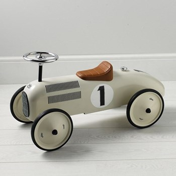 Ride on car, H41 x W40 x L76cm, cream