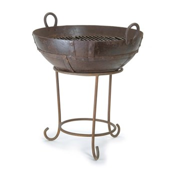 Barbeque/fire pit with stand H66 x W65cm