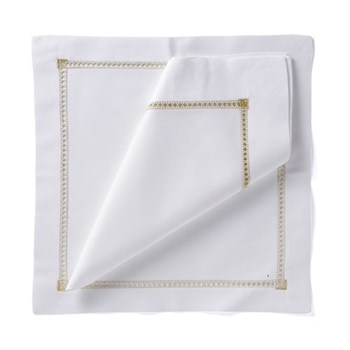 coloured hemstitch Set of 4 napkins, 54 x 54cm, gold