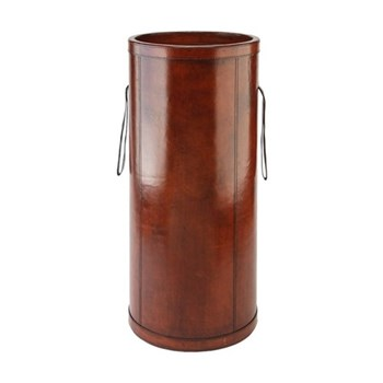 Leather Umbrella holder, H62 x D28cm, tan