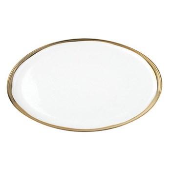 Dauville Large platter, 41.9 x 25.4cm, gold glaze