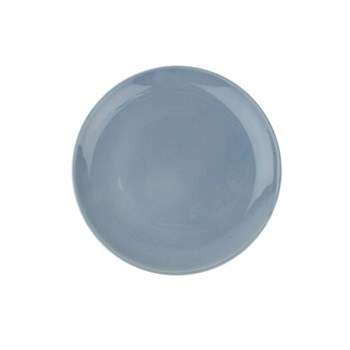 Shell Bisque Set of 4 side plates, 22cm, blue