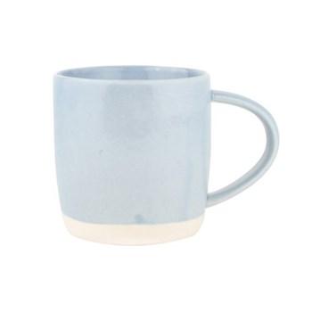 Shell Bisque Set of 4 mugs, 9 x 9cm, blue