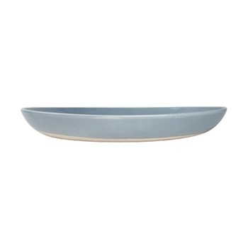 Shell Bisque Salad serving bowl, 35.6 x 5.1cm, blue