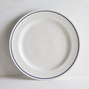 Classic Cobalt Blue Line Dinner plate, 27cm