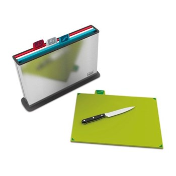 Index steel Chopping board set with steel case, 38 × 25 × 8.5cm, multi colour