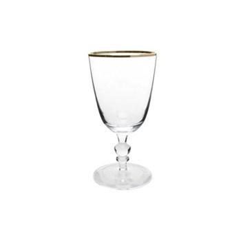 Willow Set of 4 wine glasses, 8.3 x 16.5cm, gold rim