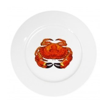 Crab Flat rimmed plate, 19cm