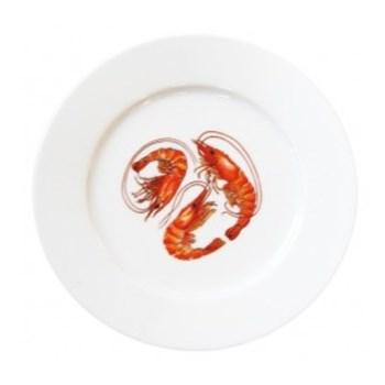 Shrimp & Prawn Flat rimmed plate, 19cm