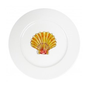 Scallop Flat rimmed plate, 19cm