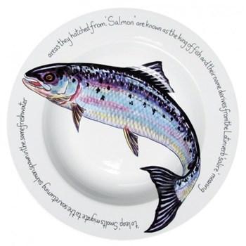 Salmon Deep rimmed bowl, 30cm