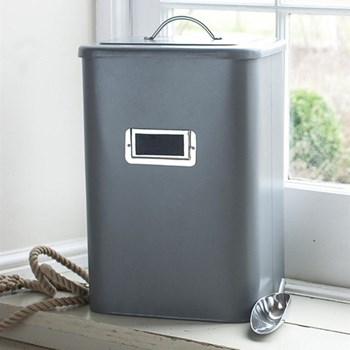 Large pet bin, 30 litre - H45 x W32 x D24cm, charcoal