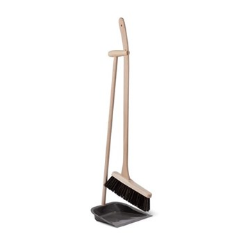 Dustpan and brush with beech handle 90cm