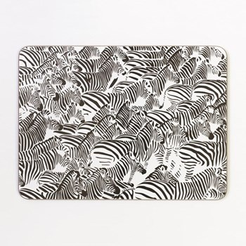 Zebra Set of 4 rectangular table mats, 29.2 x 21.6cm