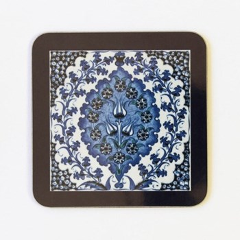 Iznik Bluebell Set of 4 square coasters, 10 x 10cm