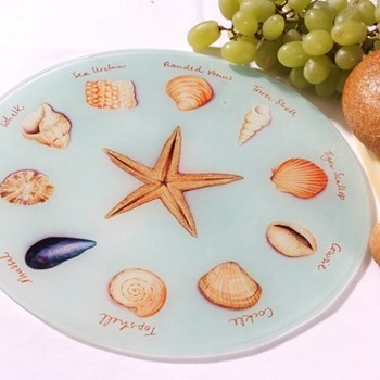Sea Shells Glass platter, 30cm