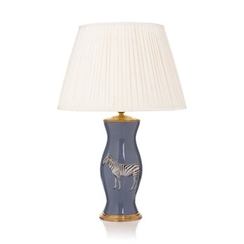 Out of Africa Lamp with pleated shade, 41 x 61cm