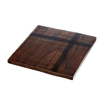 Highland Sheesham trivet, 25 x 25 x 1.5cm, sheesham wood