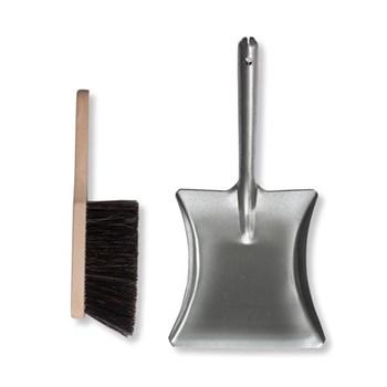 Galvanised dustpan and brush