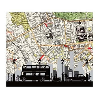 Traffic Unframed silhouette image with personalised map, 35 x 30cm