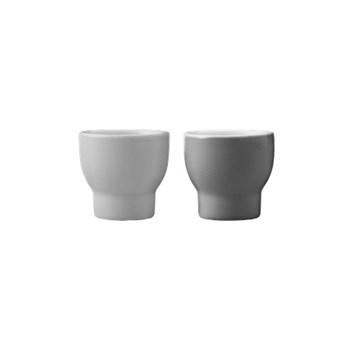 Emma Pair of egg cups, grey