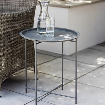 Bistro tray table H52 x D46cm