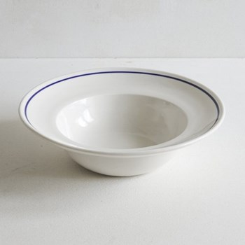 Classic Cobalt Blue Line Deep bowl, 30cm