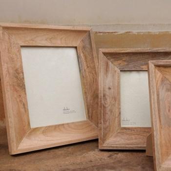 """Habibi Photo frame, 5 x 7"""", mango wood"""