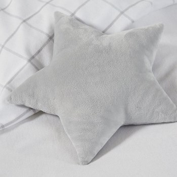 Star Cushion, W28 x L35cm, white