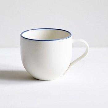 Mug with coloured rim 1/2 pint