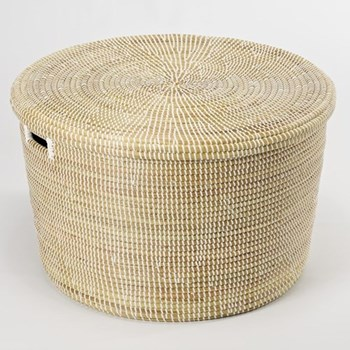 African Storage basket, 20 x 32cm, natural