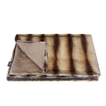Classic Collection Double throw, 180 x 145cm, brown chinchilla