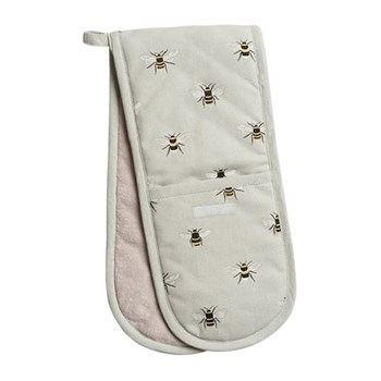 Bees Double oven glove, 18 x 84cm