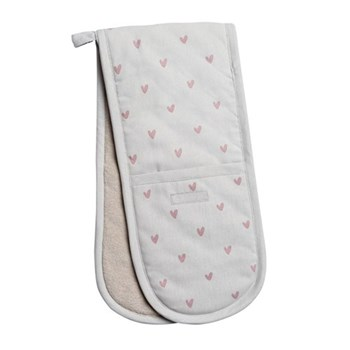 Hearts Double oven glove, 18 x 84cm