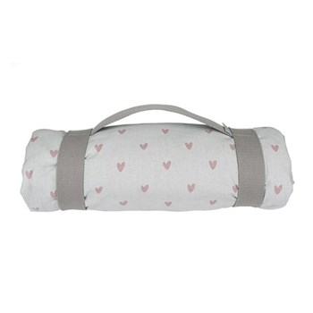 Hearts Picnic blanket, 140 x 145cm, cotton with water resistant back