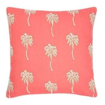 Palmier Cushion, W45 x L45cm, coral