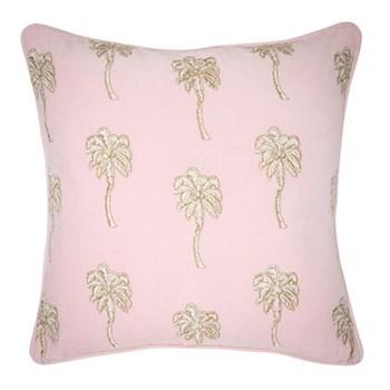 Palmier Cushion, W45 x L45cm, velvet/rosewater