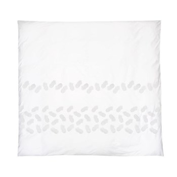 Luxury Ananas King size duvet cover, 230 x 220cm, 	white, 220 thread count, cotton