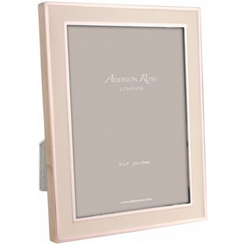 Enamel Range Photograph frame, 5 x 7'', pink with rose gold plate