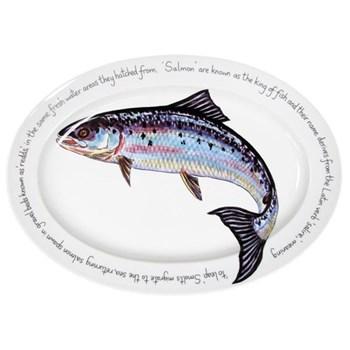 Salmon Oval platter, 39 x 26cm