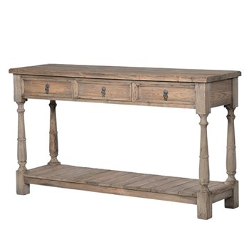 Colonial Hall table, 90 x 160 x 45cm, reclaimed pine